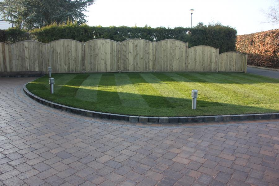 2 Driveway, Turfing and Fencing, Standish Image