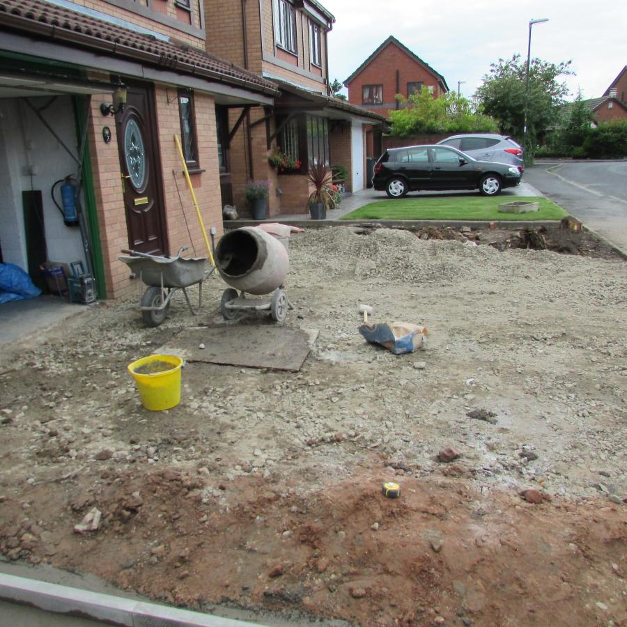 3 Natural stone driveway, Patio & Artificial grass in Pennington, Leigh  Image
