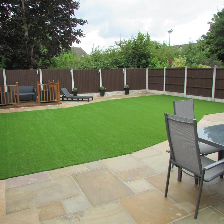 10 Natural stone driveway, Patio & Artificial grass in Pennington, Leigh  Image