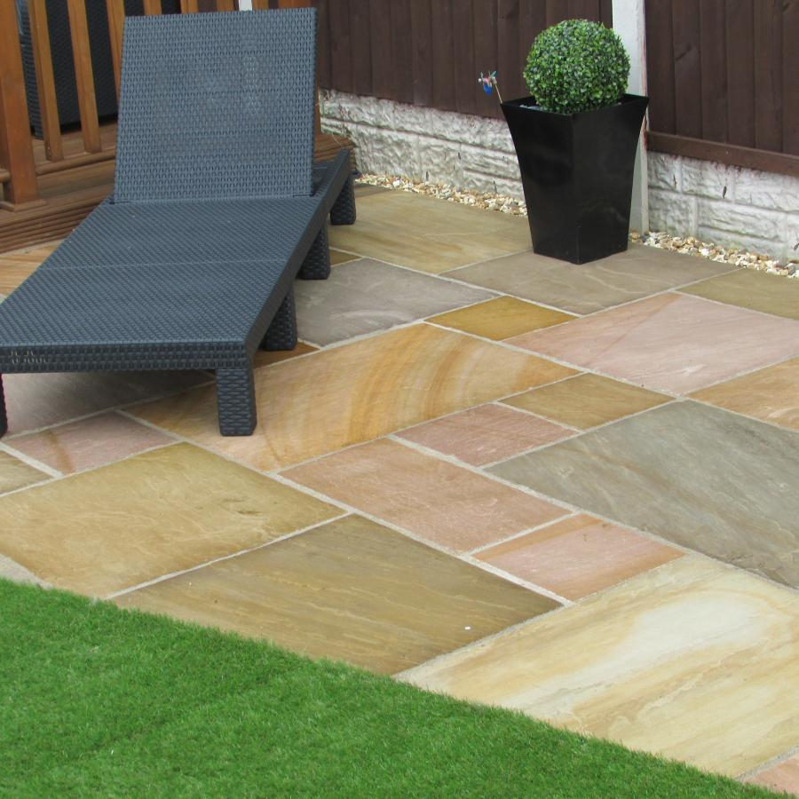 14 Natural stone driveway, Patio & Artificial grass in Pennington, Leigh  Image