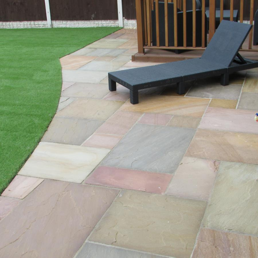 11 Natural stone driveway, Patio & Artificial grass in Pennington, Leigh  Image
