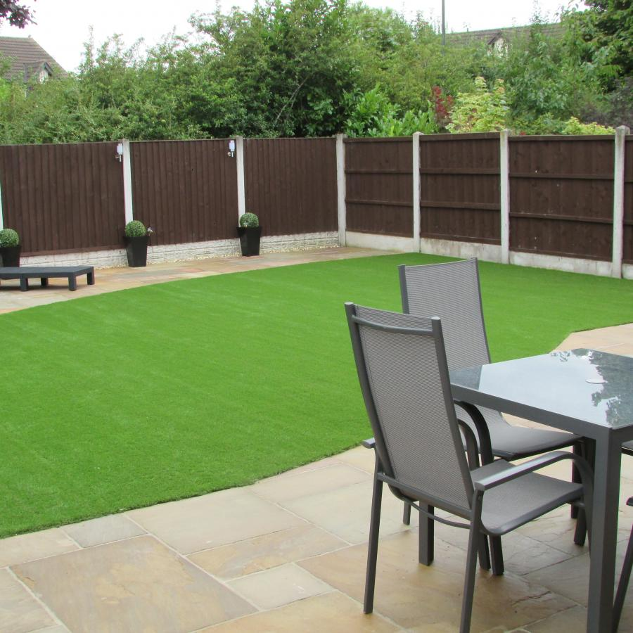 15 Natural stone driveway, Patio & Artificial grass in Pennington, Leigh  Image