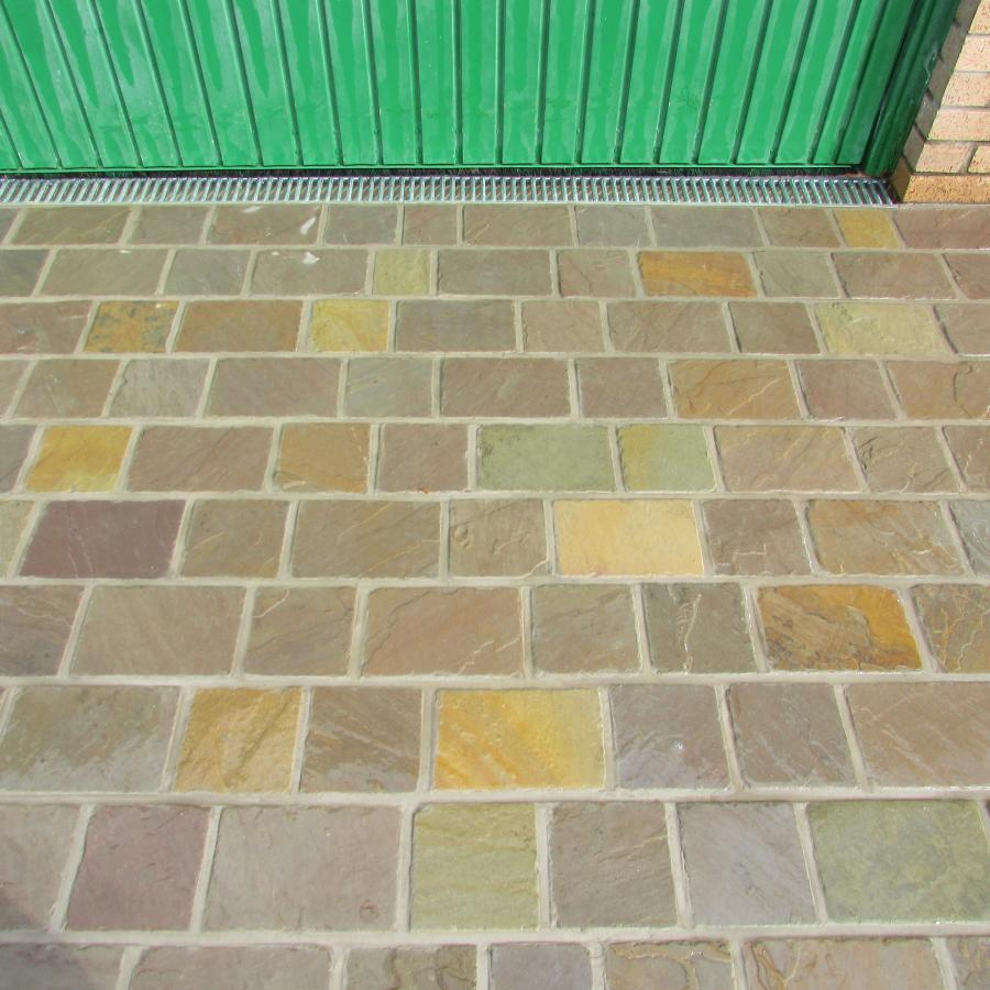7 Natural stone driveway, Patio & Artificial grass in Pennington, Leigh  Image