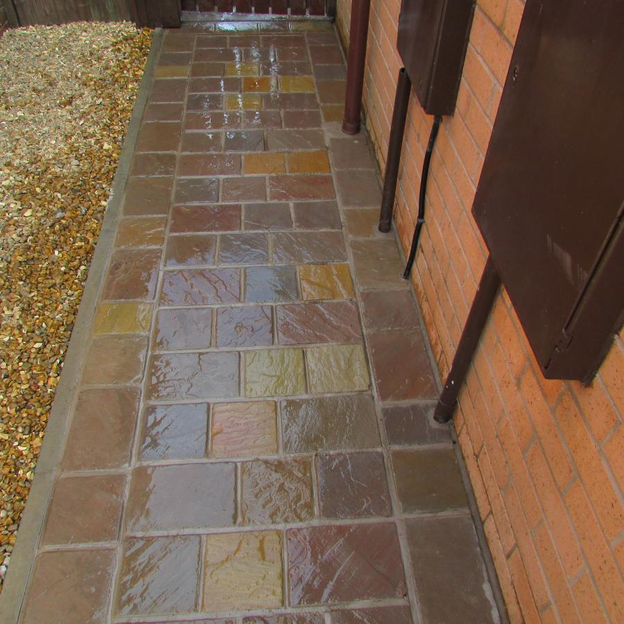 6 Natural stone driveway, Patio & Artificial grass in Pennington, Leigh  Image