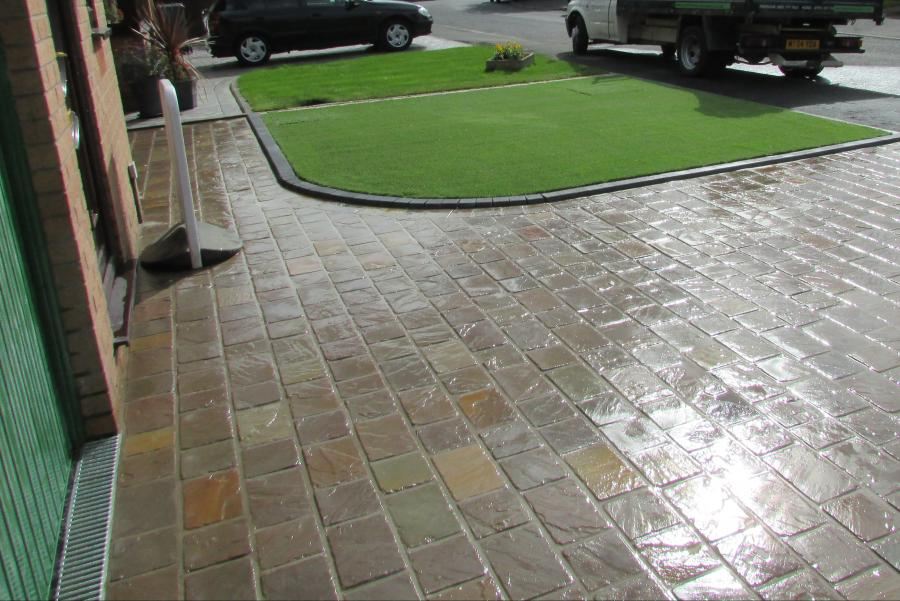 Natural stone driveway, Patio & Artificial grass in Pennington, Leigh